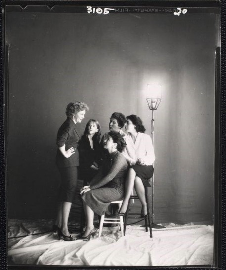 Geraldine Page, Julie Harris, Eileen Herlie, Maureen Stapleton and Anne Bancroft New York 1960